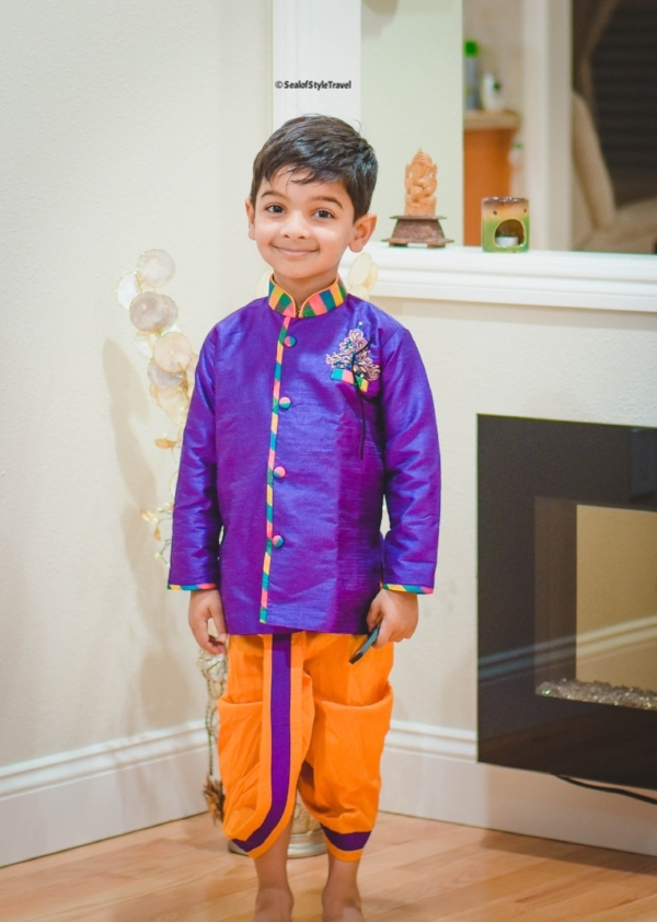 My little prince shining in in Indian outfit