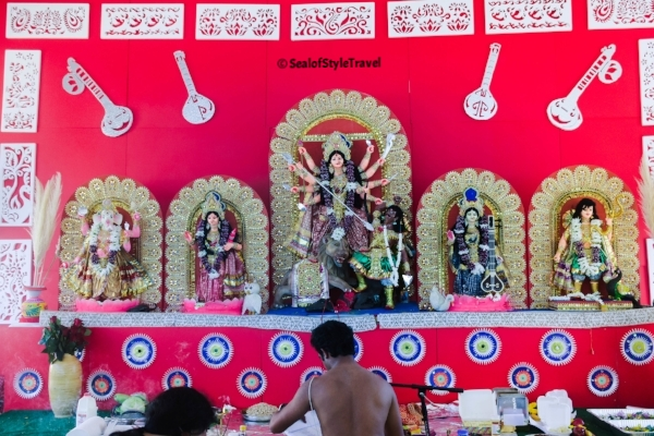 One of the Pujas we visited