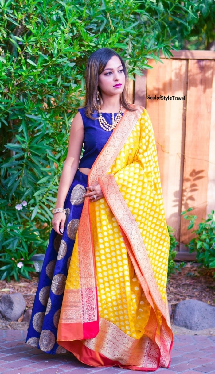 Mix and match outfit - India Fashion Cottage and Etsy