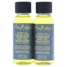 Hot hair oil treatment