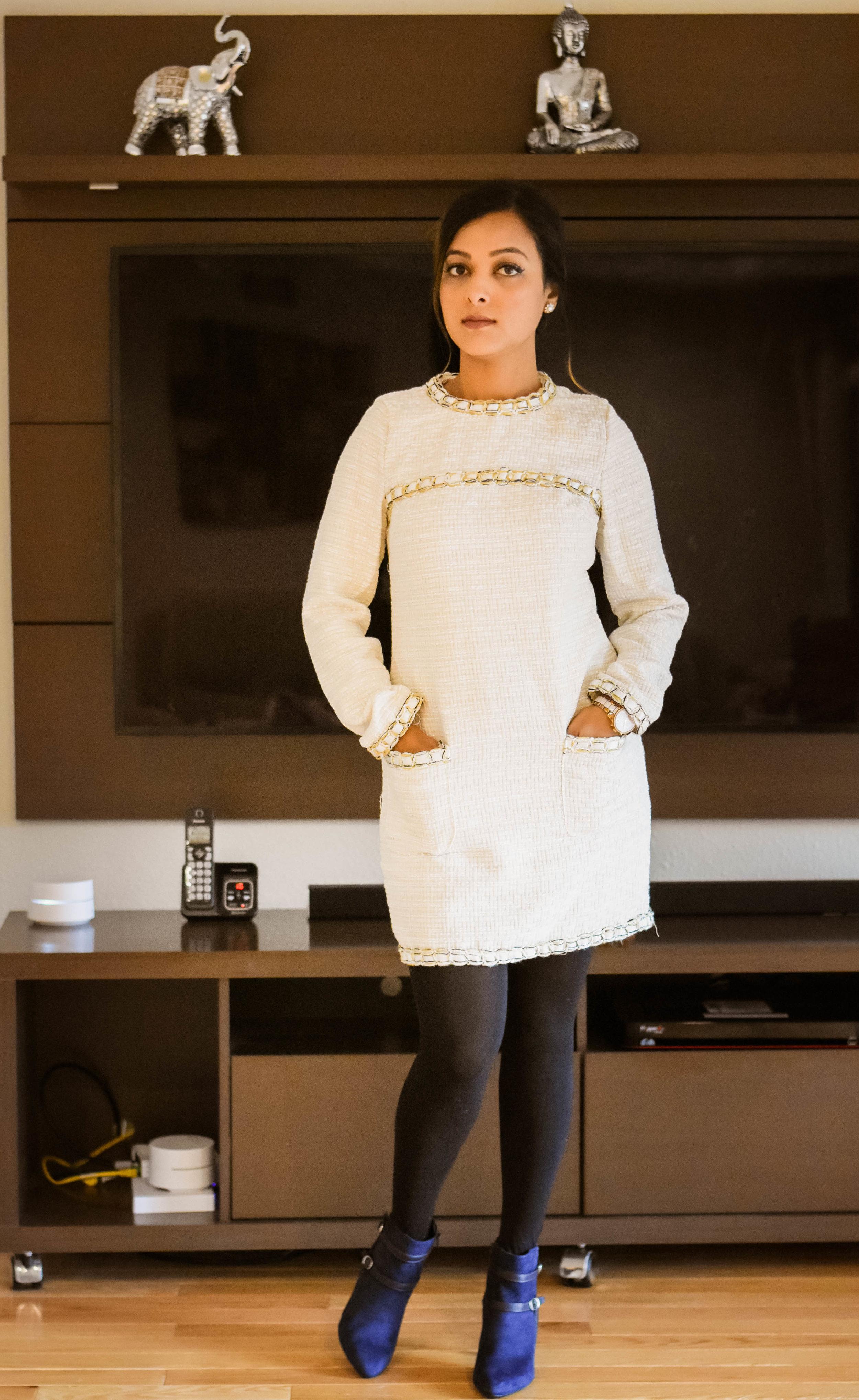 Rialto booties - $69   Dress- Shein