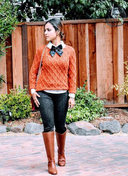 Coach Boots- $198   Sweater (similar)