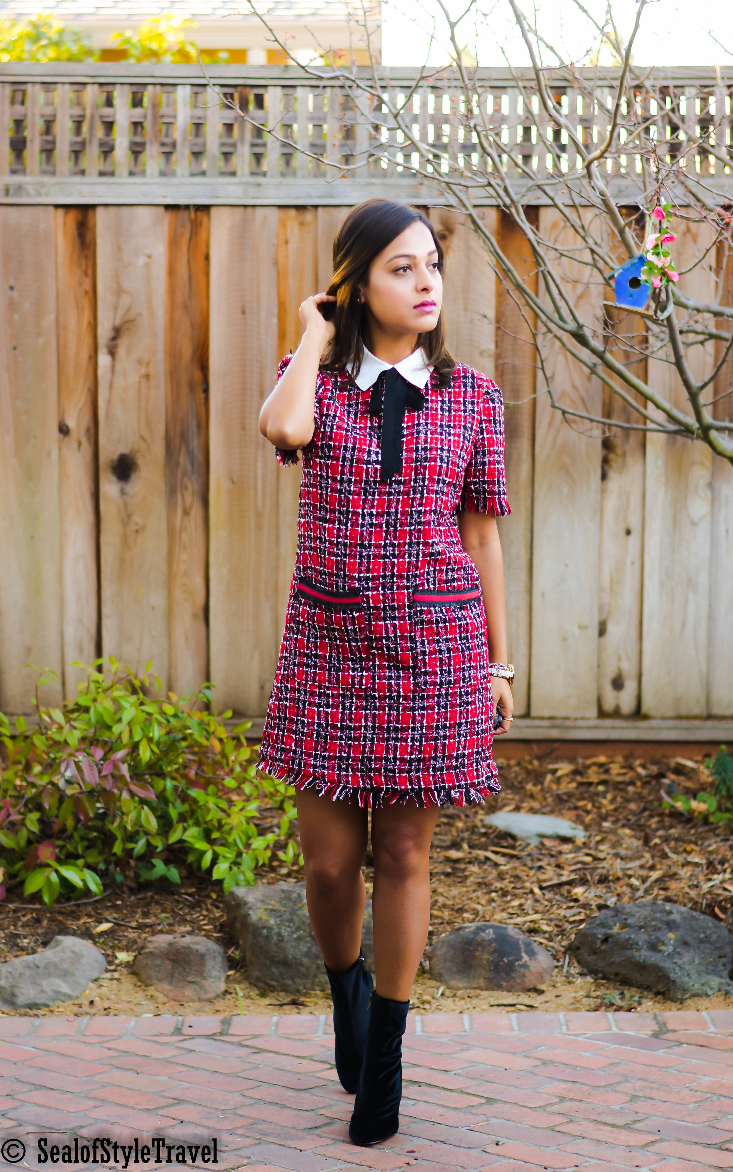 Cheap tweed dress for work