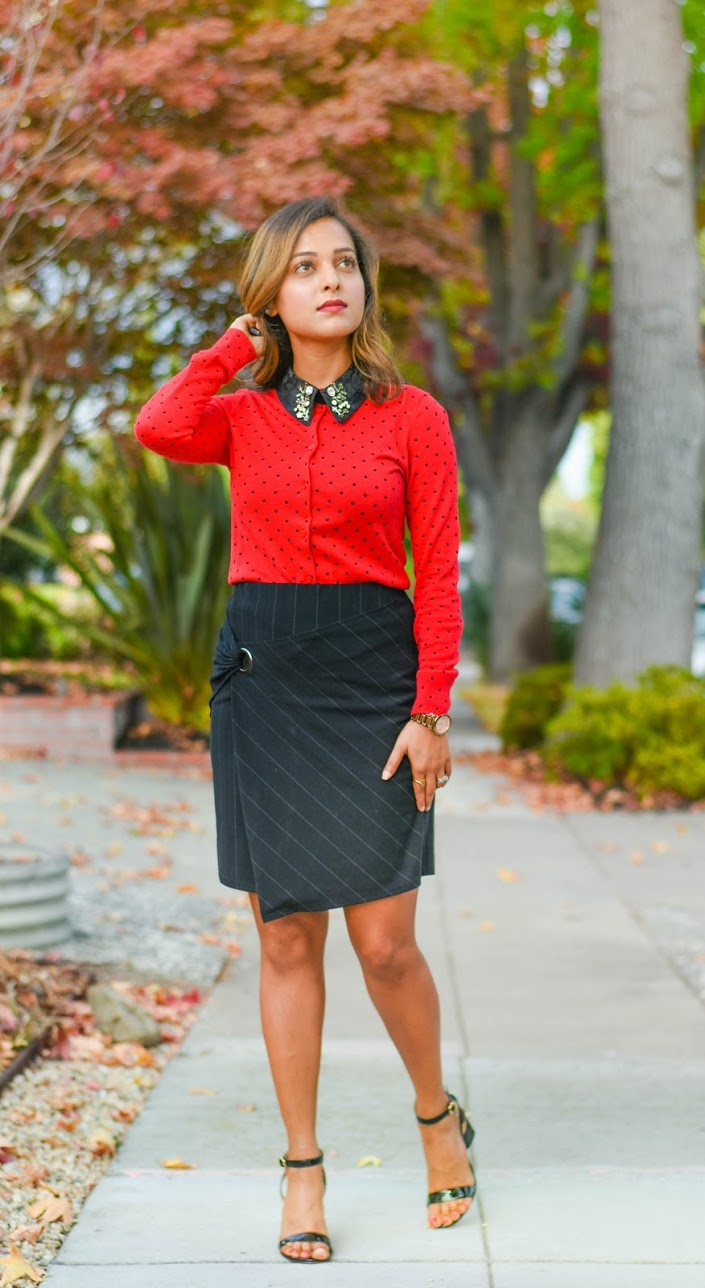 Cardigan- J crew, Skirt- Le Tote, Shoes- Tory Burch