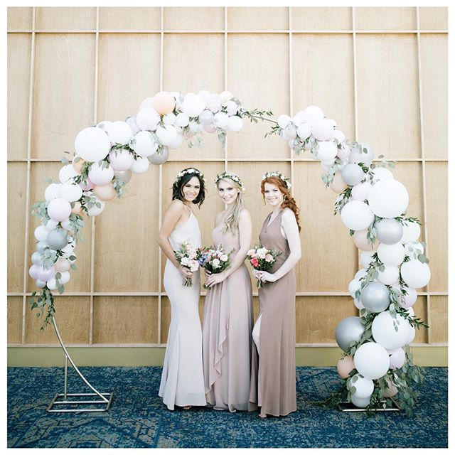 Bridesmaids for HUSH collection. — Dress Collection: @hushcollection  Location: @assiniboineparkzoo  Planner: @melanie_parent_events @kristina_melanie_parent_events  Balloon Arch: @glitterandglueparties  Models: @panachemanagement @shmorgee @katejessie7 @breannerey  Florals: @academyflorist  Sweets: @sweetnutfree  Tablescape: @dreamdaydecor @ctrentals  Hair/MU: @aurahairgroup