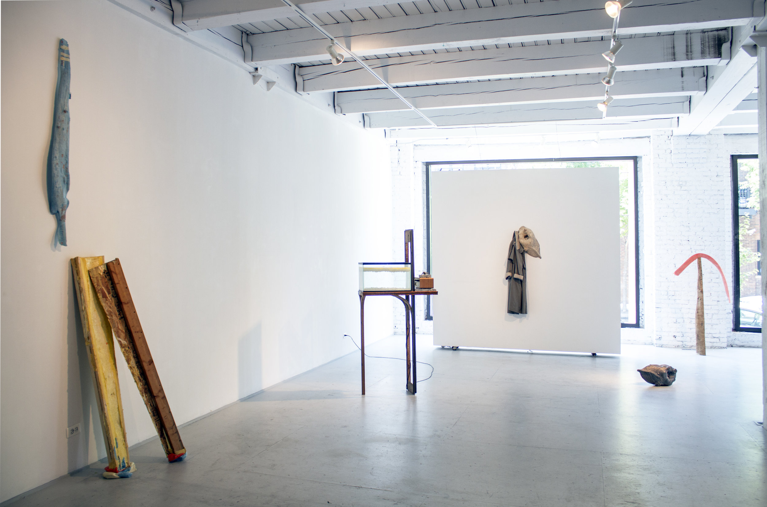 for no space,  installation view, 2016