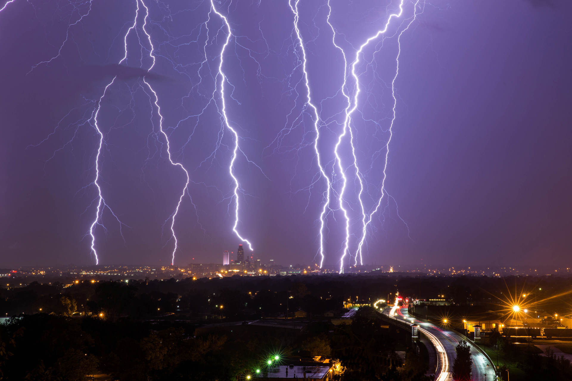 Downtown Omaha Lightning