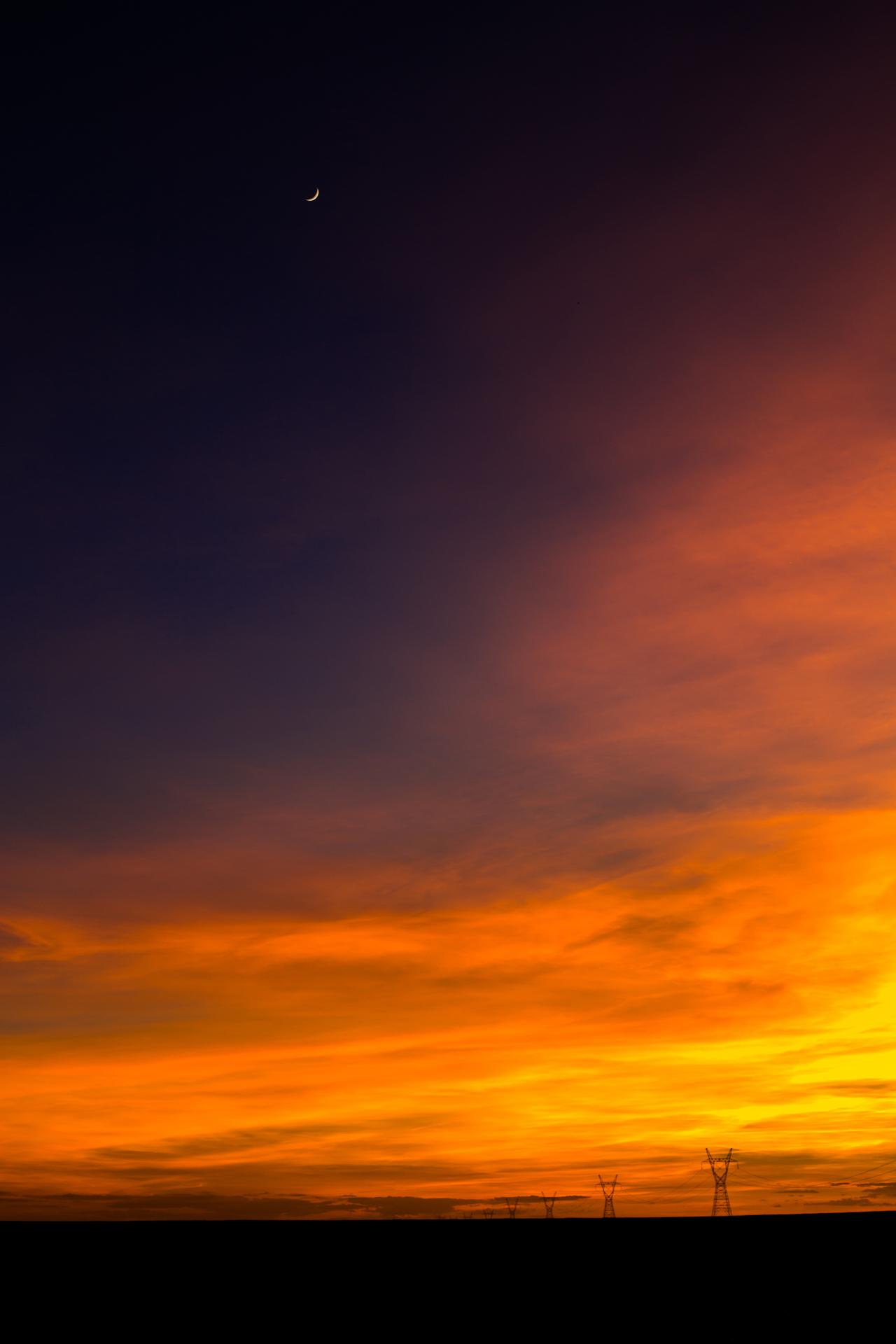 Nebraska Skies Vertical