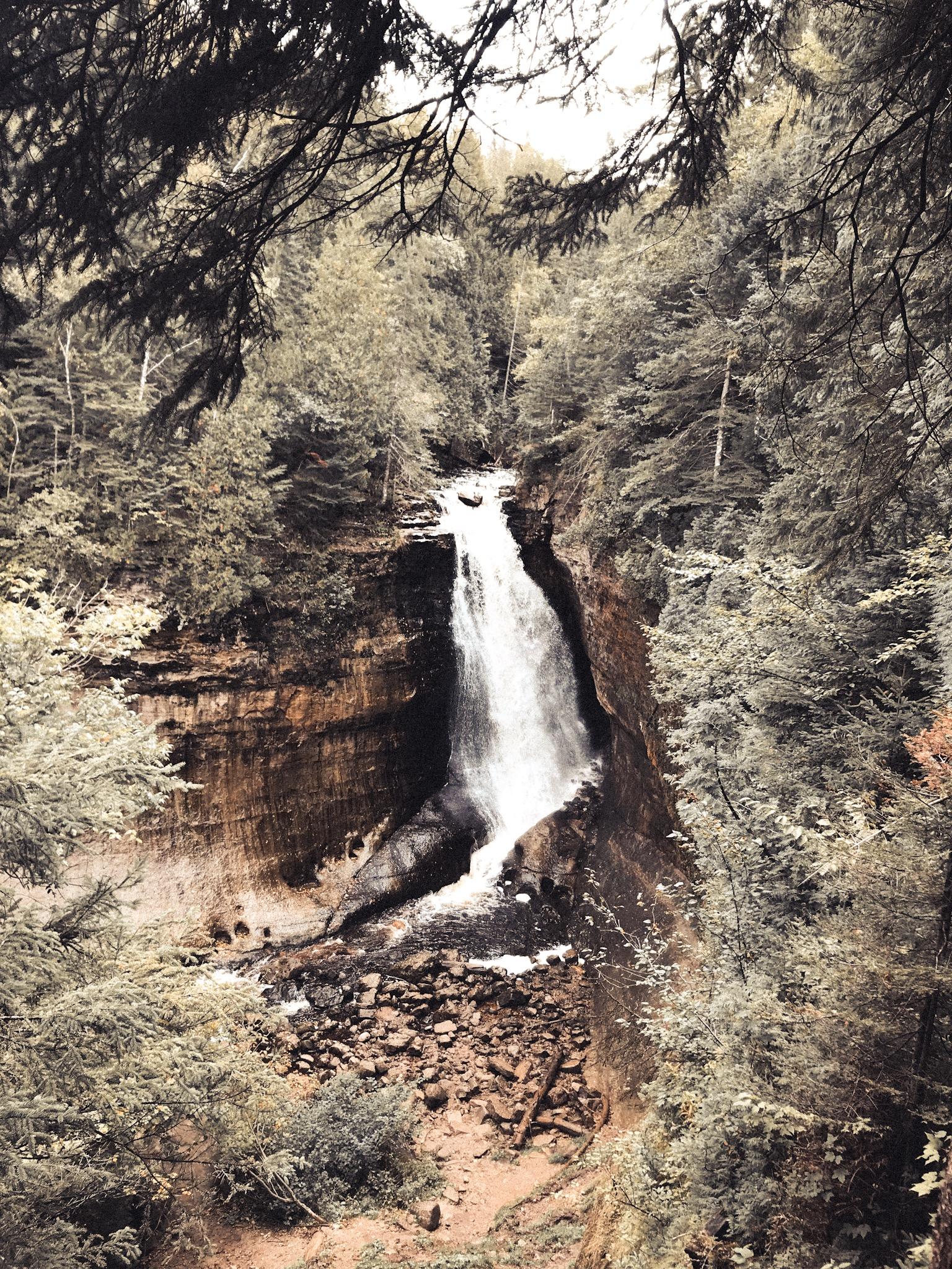 Munising Falls Waterfall Hike Pictured Rocks.JPG