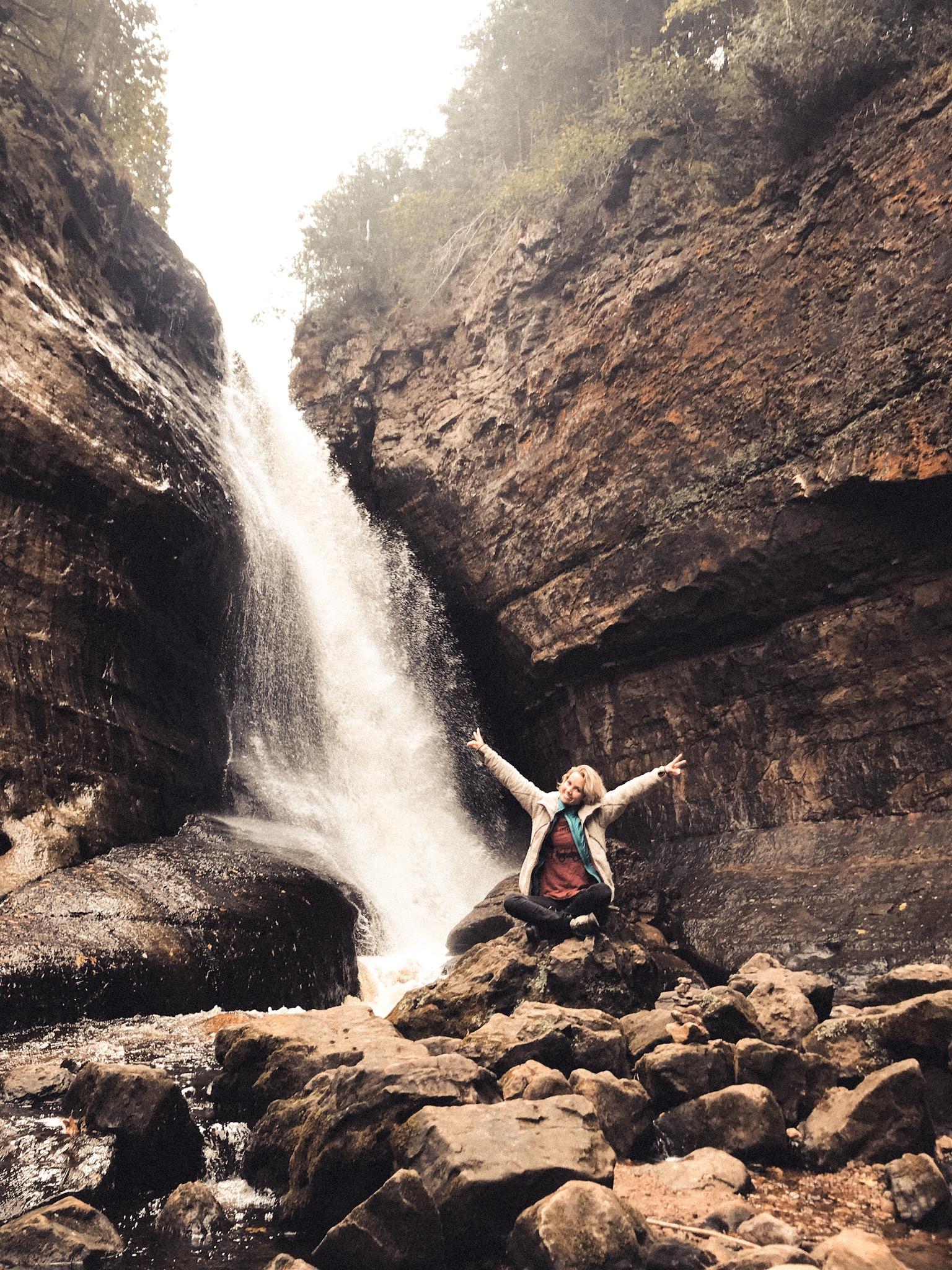 Waterfalls at Pictured Rocks National Park.JPG