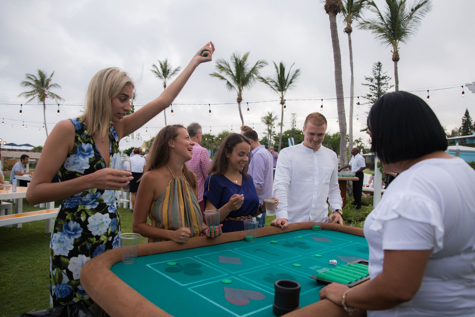 A taste of Bermuda! - Crown & Anchor gambling and Cup Match – we recreated the once a year colourful rivalry between the East and West Ends of Bermuda with guests experiencing local culture.