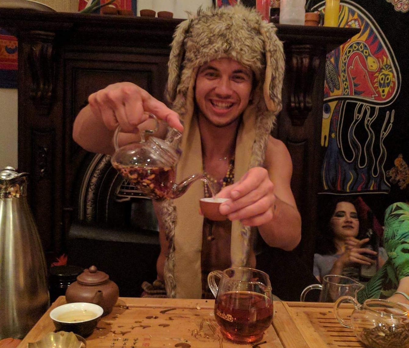 Serving Tea at a Party
