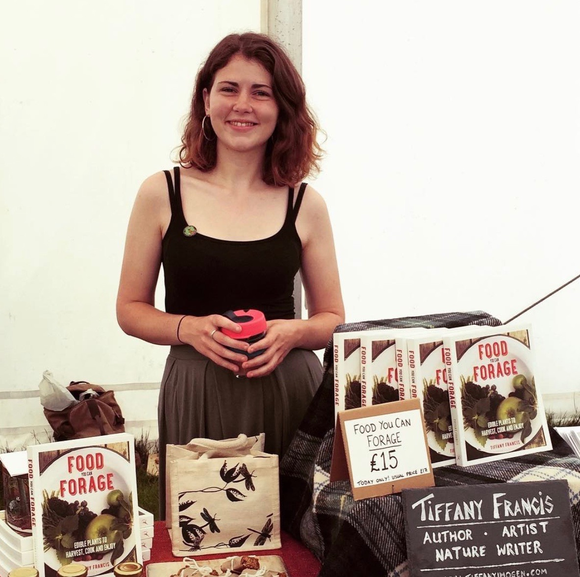 Selling my wares at the Surrey County Show last spring