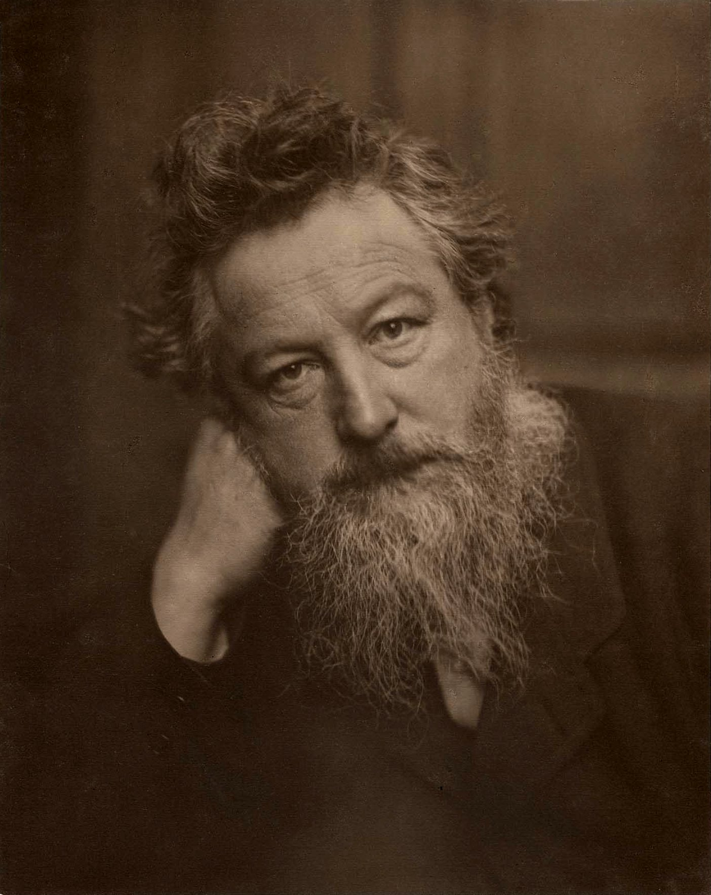 William Morris by Sir Emery Walker, 19 January 1889 © National Portrait Gallery, London