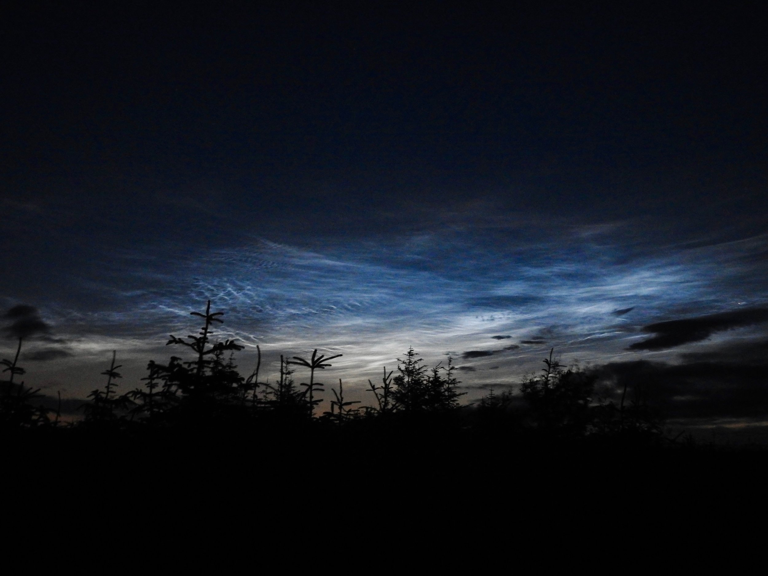 Noctilucent clouds, Kielder