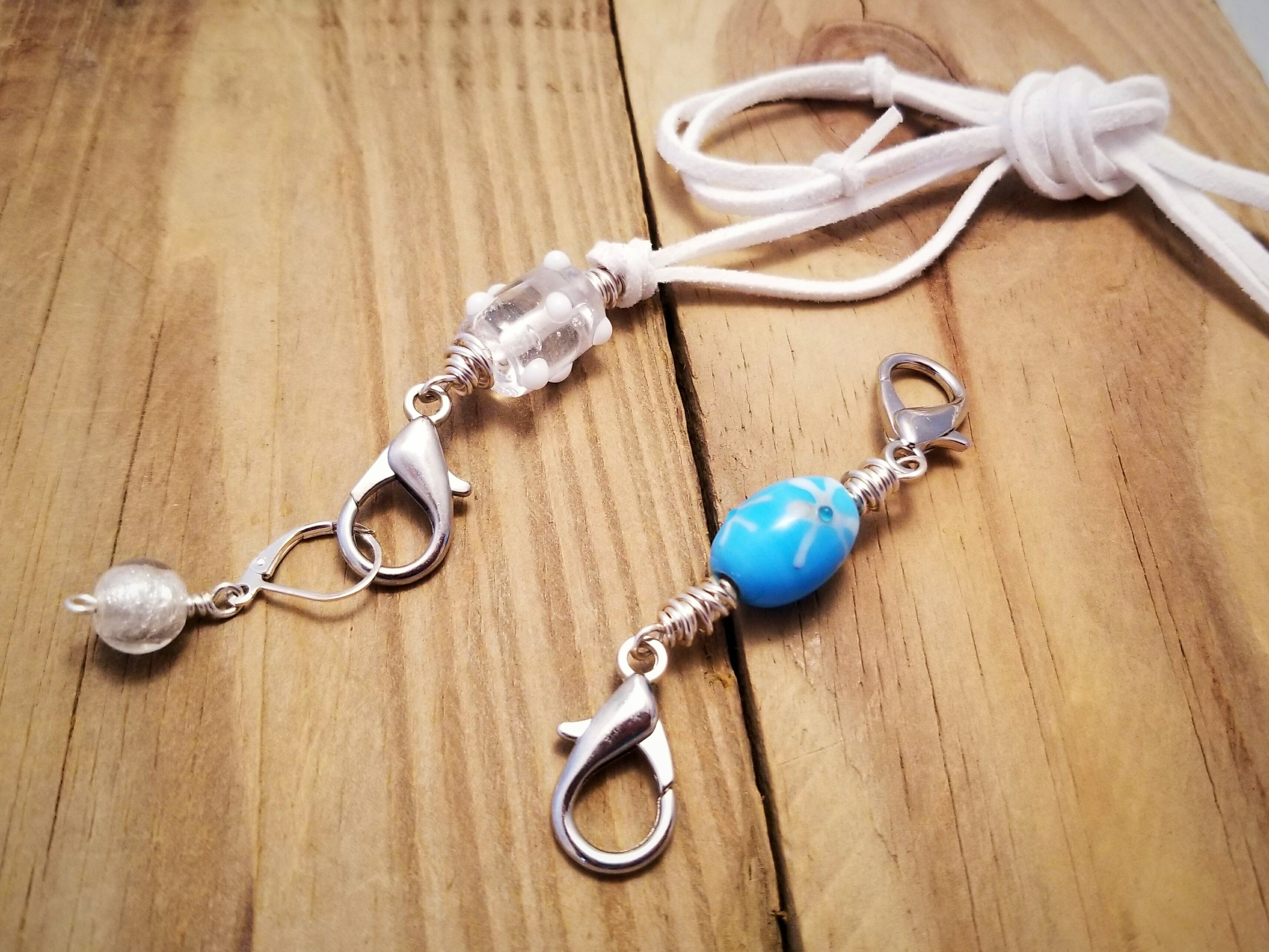 necklace and keeper clips