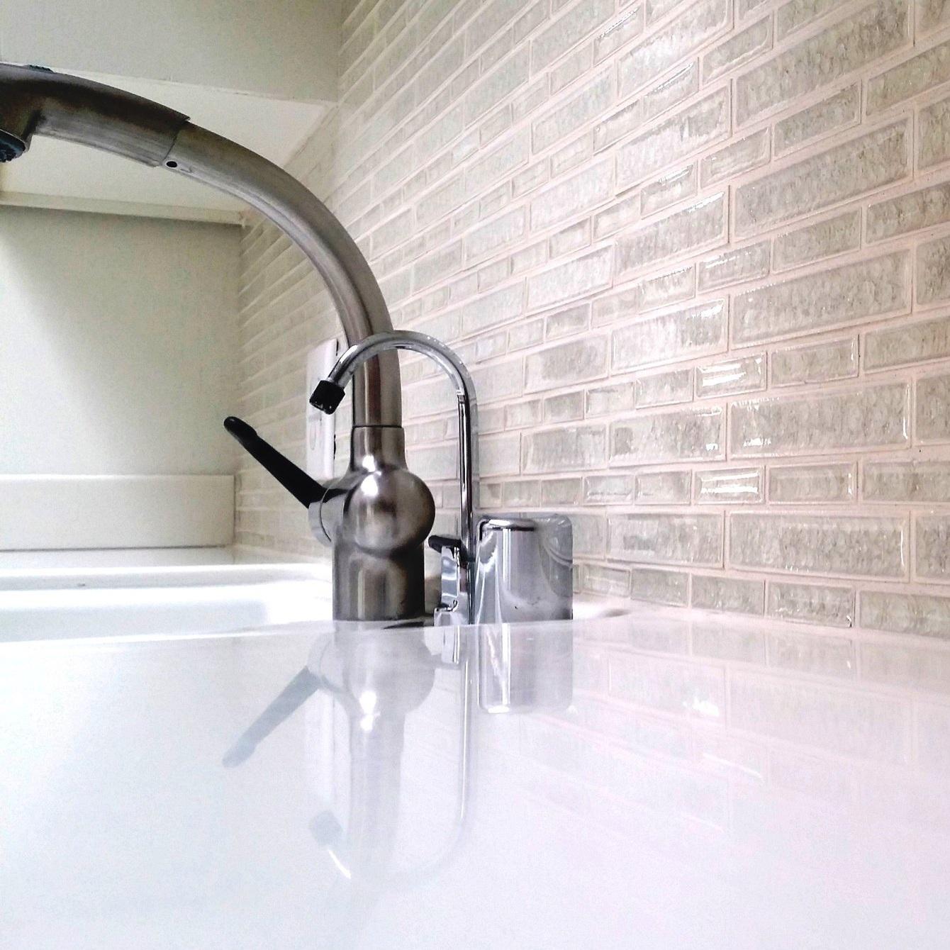 backsplash & plumbing fixture selection -