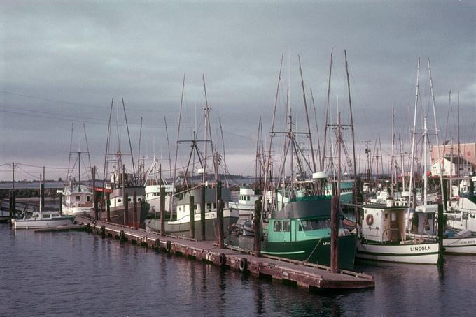 Charleston, Oregon, in the 1970s.