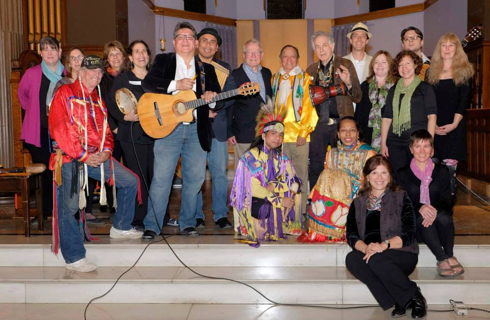 With David Amram and the EarthTones, at the Earth Day Concert hosted by Hudson River Sloop Clearwater, in Yonkers NY.