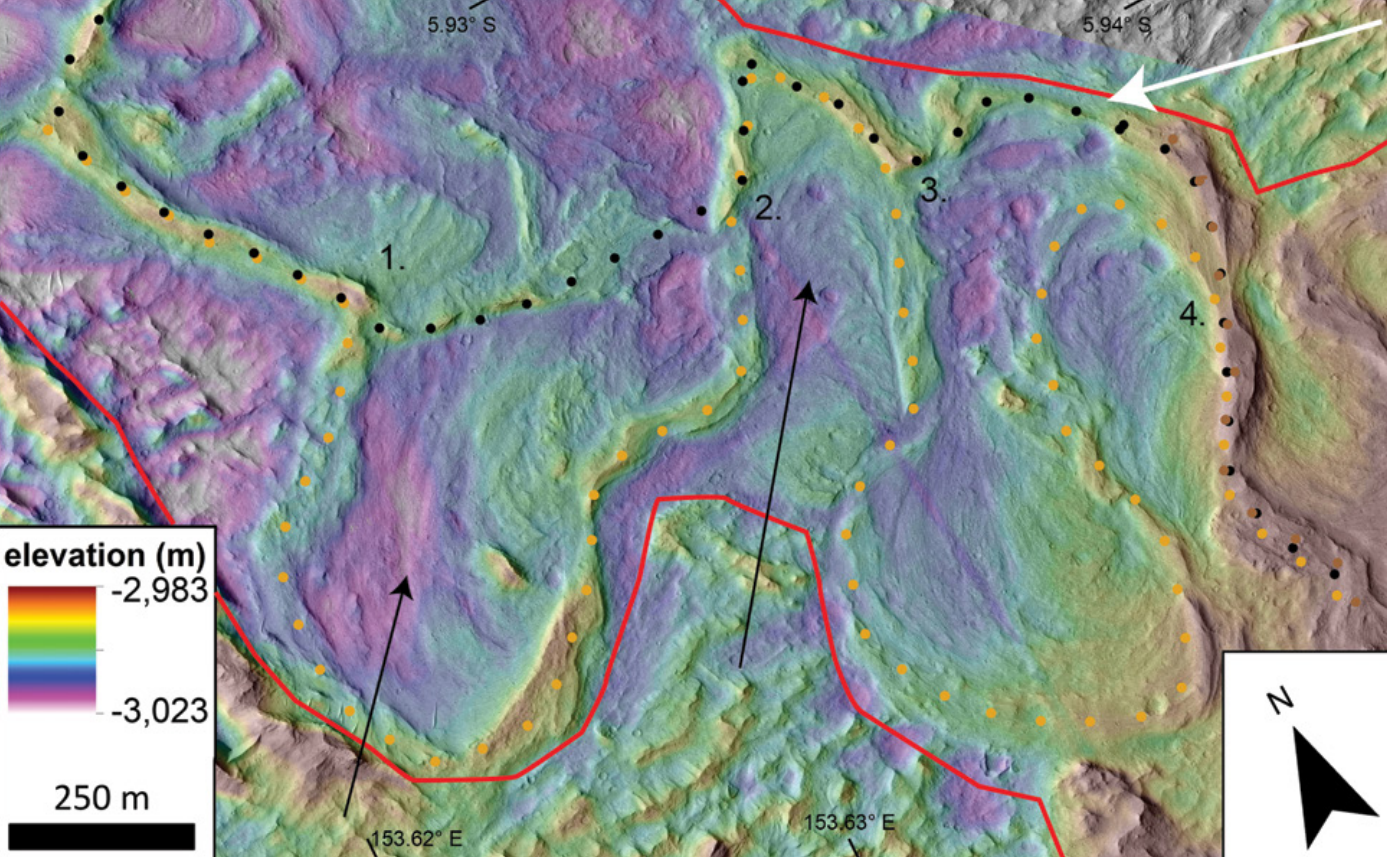 ancient river deposits exposed on the surface of Mars