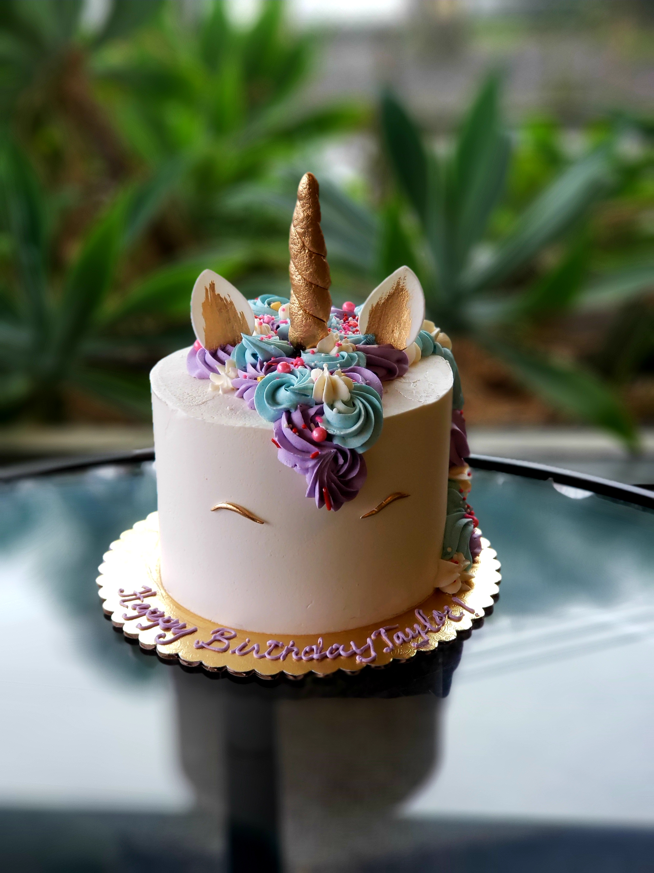 Copy of Unicorn birthday Cake Hilo Hawaii