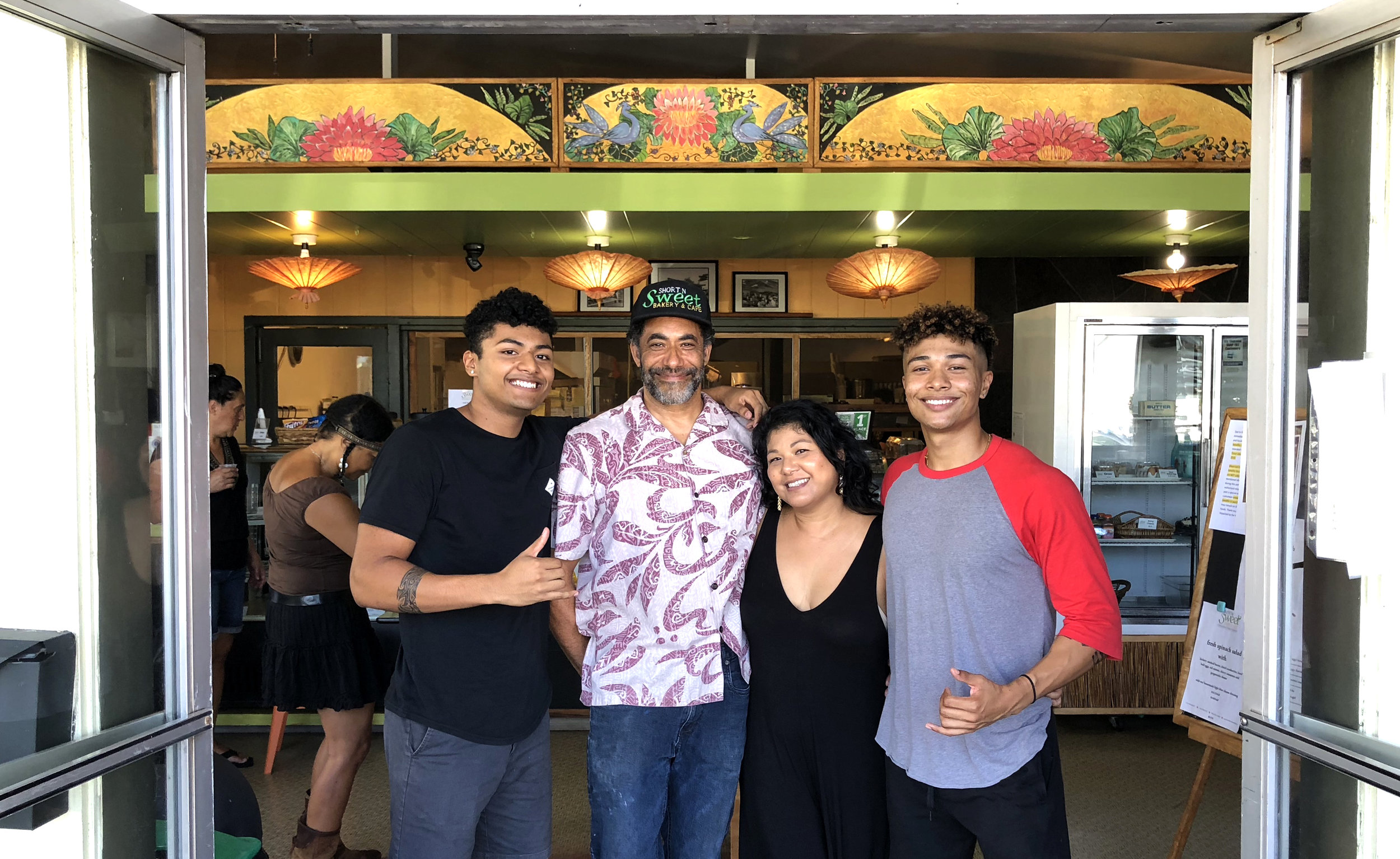 The Short Family at their family owned and operated Short-N-Sweet Bakery in Hilo, Hawaii.