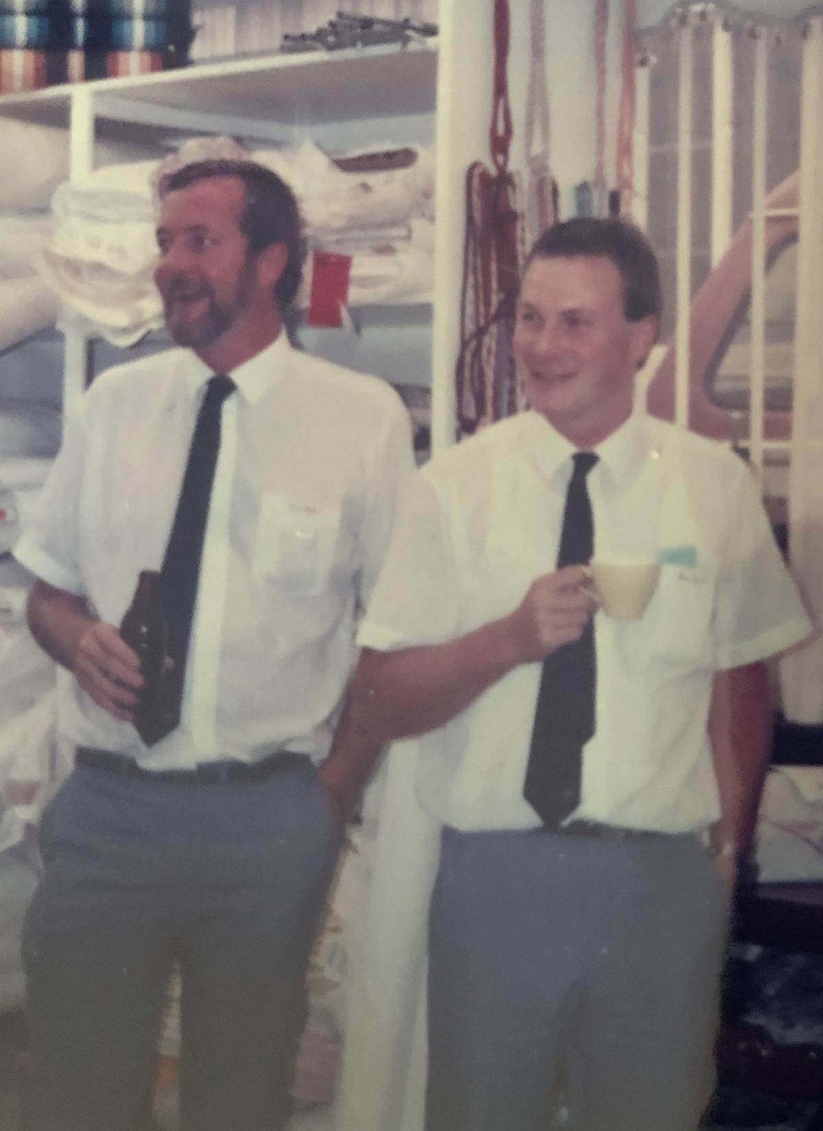 Gerald and Michael Sheehy photographed in the early '80s.