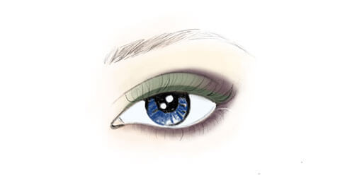 Apply Eye Definer 04 Green to the upper lash line