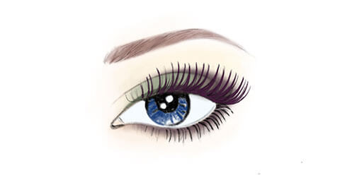 Apply Mascara 03 Plum to lashes