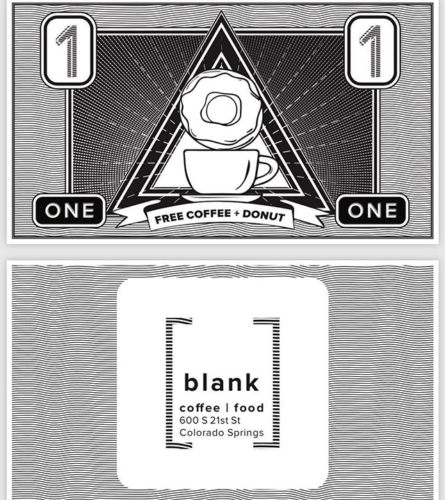 Yo! We teamed up with Blank Coffee, to get y'all a sweet deal! Click the link in our profile and fill in your details to get on our mailing list. This week we are sending out free coffee & donut cards! • • • • • • • • #coloradosprings #coloradospringsliving #coloradoliving #coloradospringslife #coloradosprings #coloradospringsco #csco  #coloradolifestyle #downtowncoloradosprings #my_cosprings #coloradospringscoffee