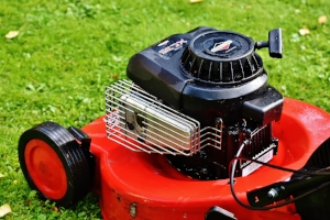 Image of lawn mower to illustrate Turf Preserve lawn care and maintenance tips.