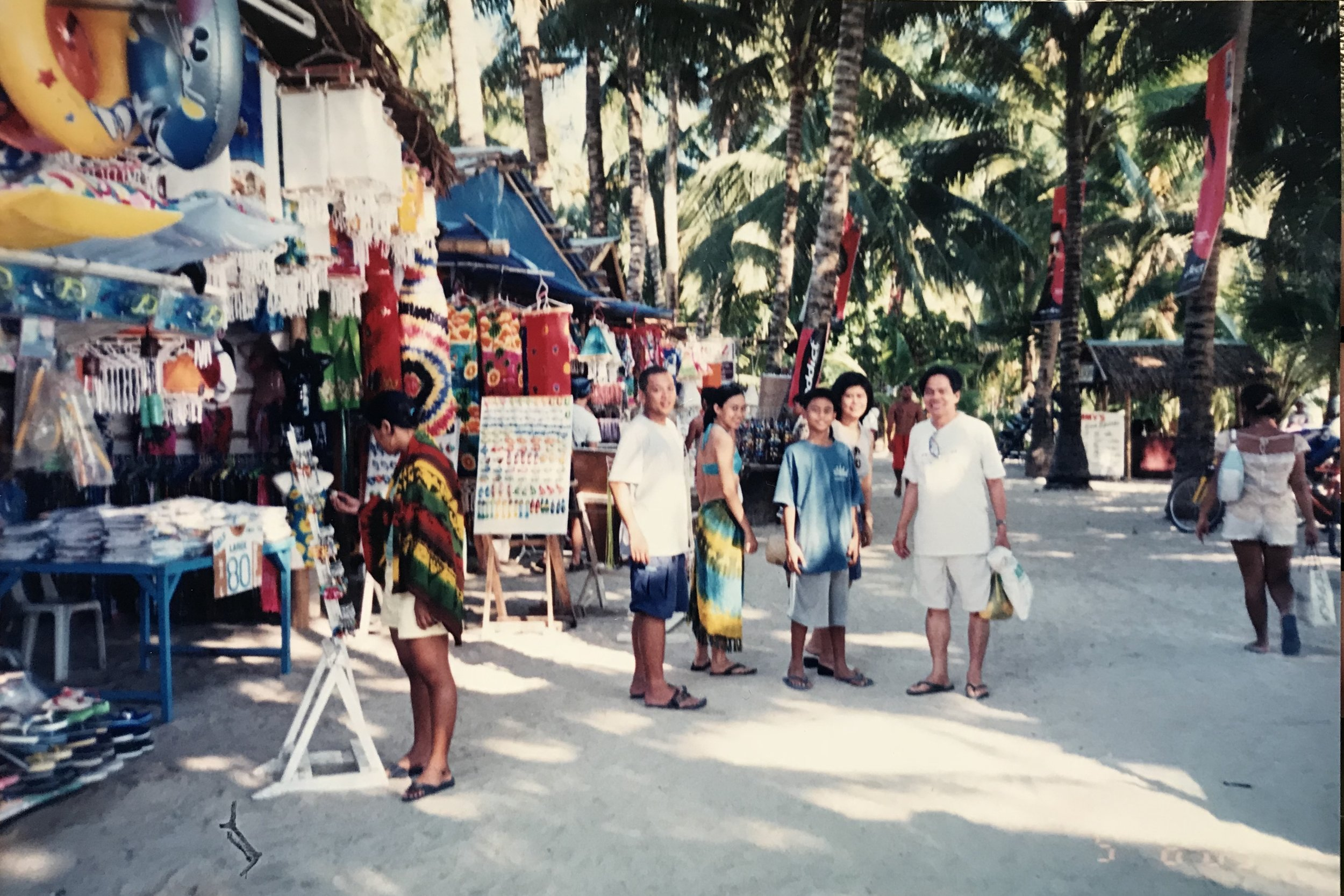 2003: Sarong and lantern heaven. These beautiful kubos have since made way for ugly buildings. There, I said it.