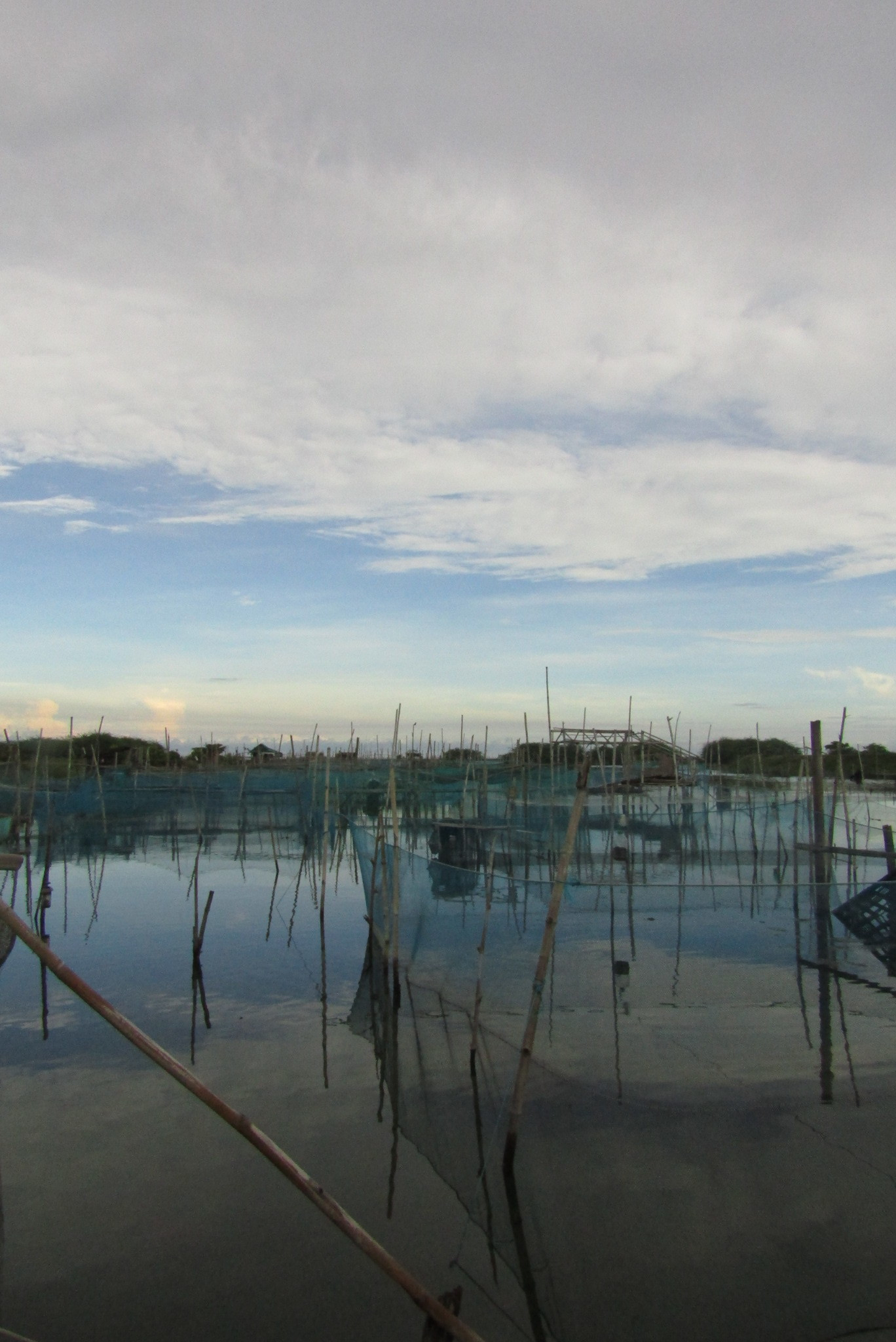 Fish pens in Vigan City, along the Mindoro River