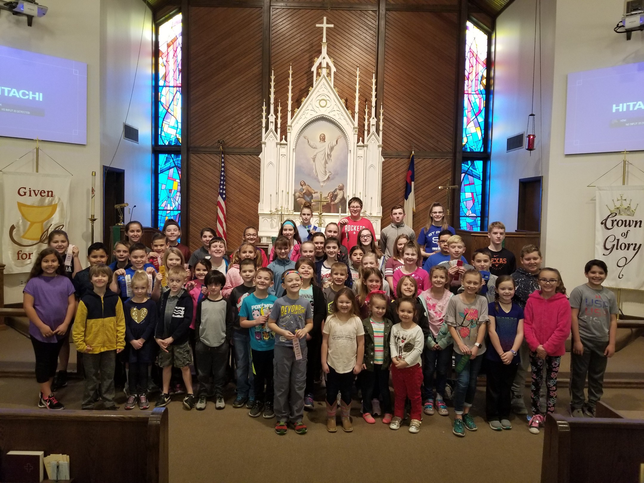 Kinder - Grade 8 PSIA competitors were recognized at our Midweek Chapel Service.