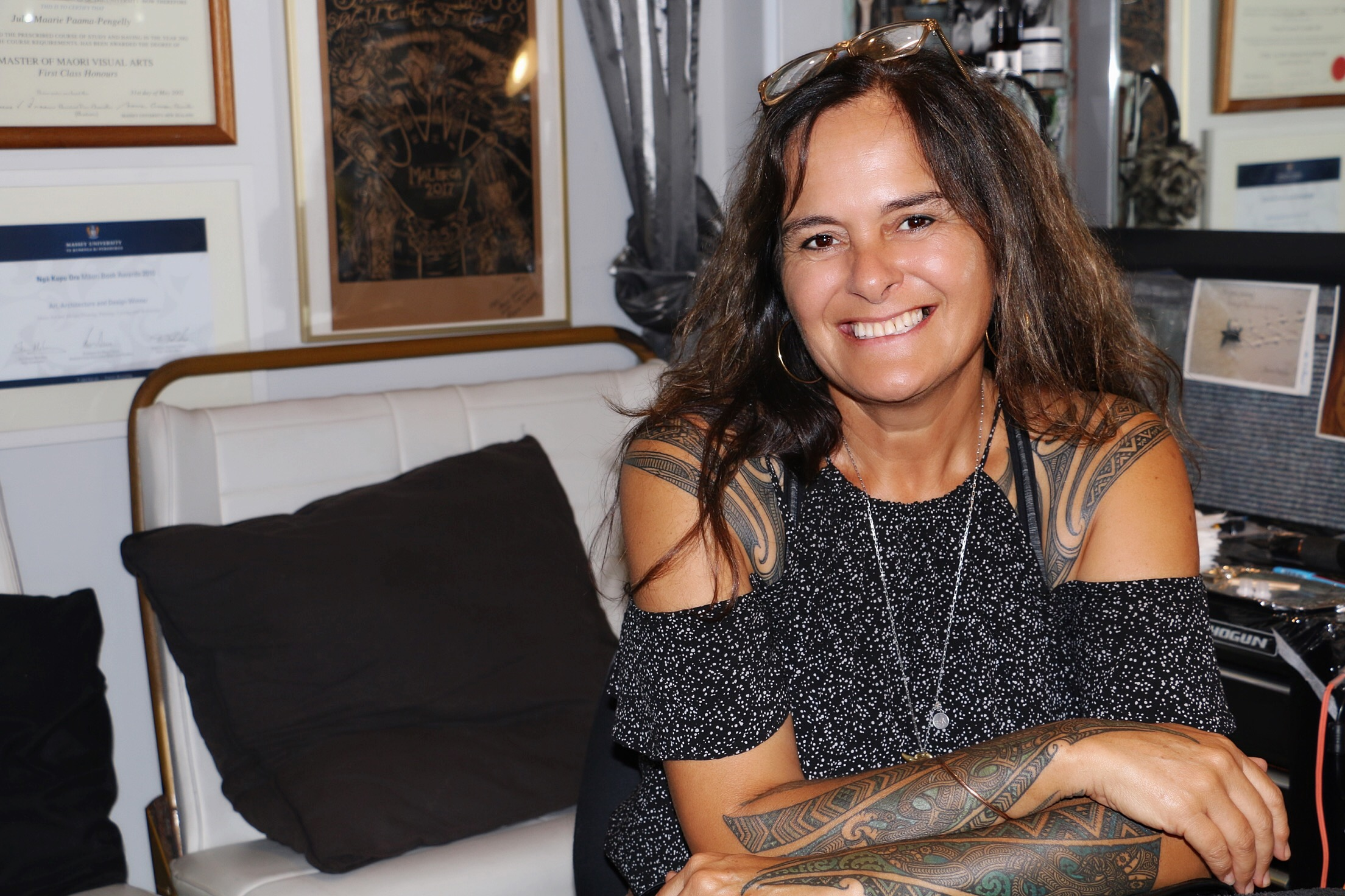 Ta Moko Sessions: Julie Paama-Pengelly - Ta moko artist Julie Paama-Pengelly talks about the challenges she's faced in a male-dominated industry and why she doesn't believe in the introduction of the term kirituhi to describe versions of ta moko.Listen to her Interview for Te Ahi Kaa.