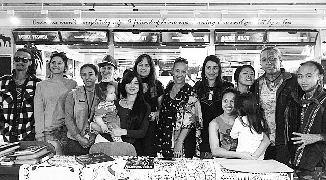 Wananga Moko a Wahine  a gathering to share indigenous practices and techniques amongst wahine ta moko. Hosted @ Art + Body Studio 2015 with guest artists;Tihoti (Tahiti), Elle Festin, Zel Festin & Nate (USA-Philippines)