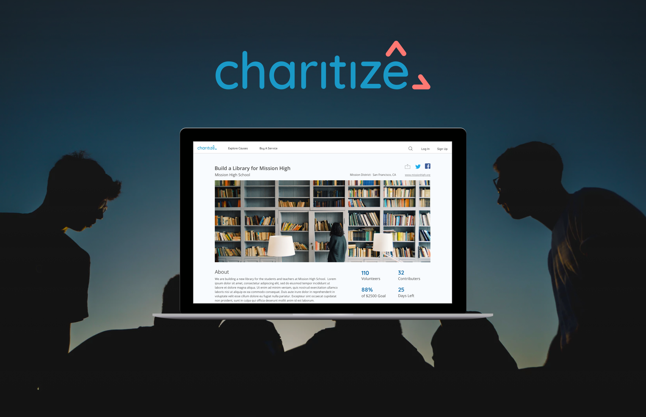 Charitize - Web App