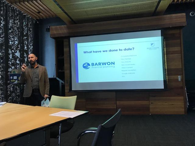 Damian presenting at Fortnum's NextGen conference.