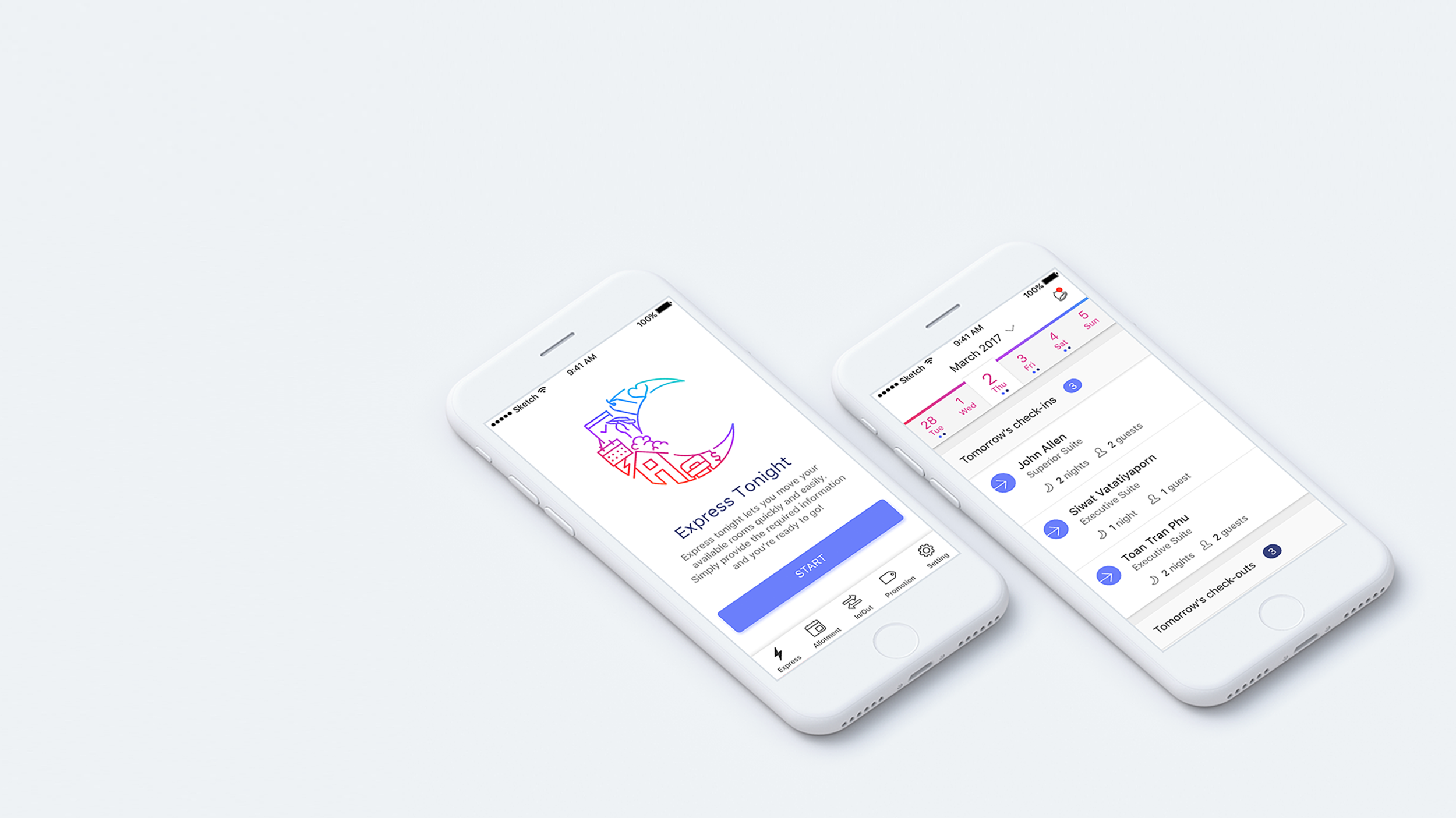 Some illustration elements using our gradient color palette added a level of friendliness to an otherwise purely utilitarian platform.
