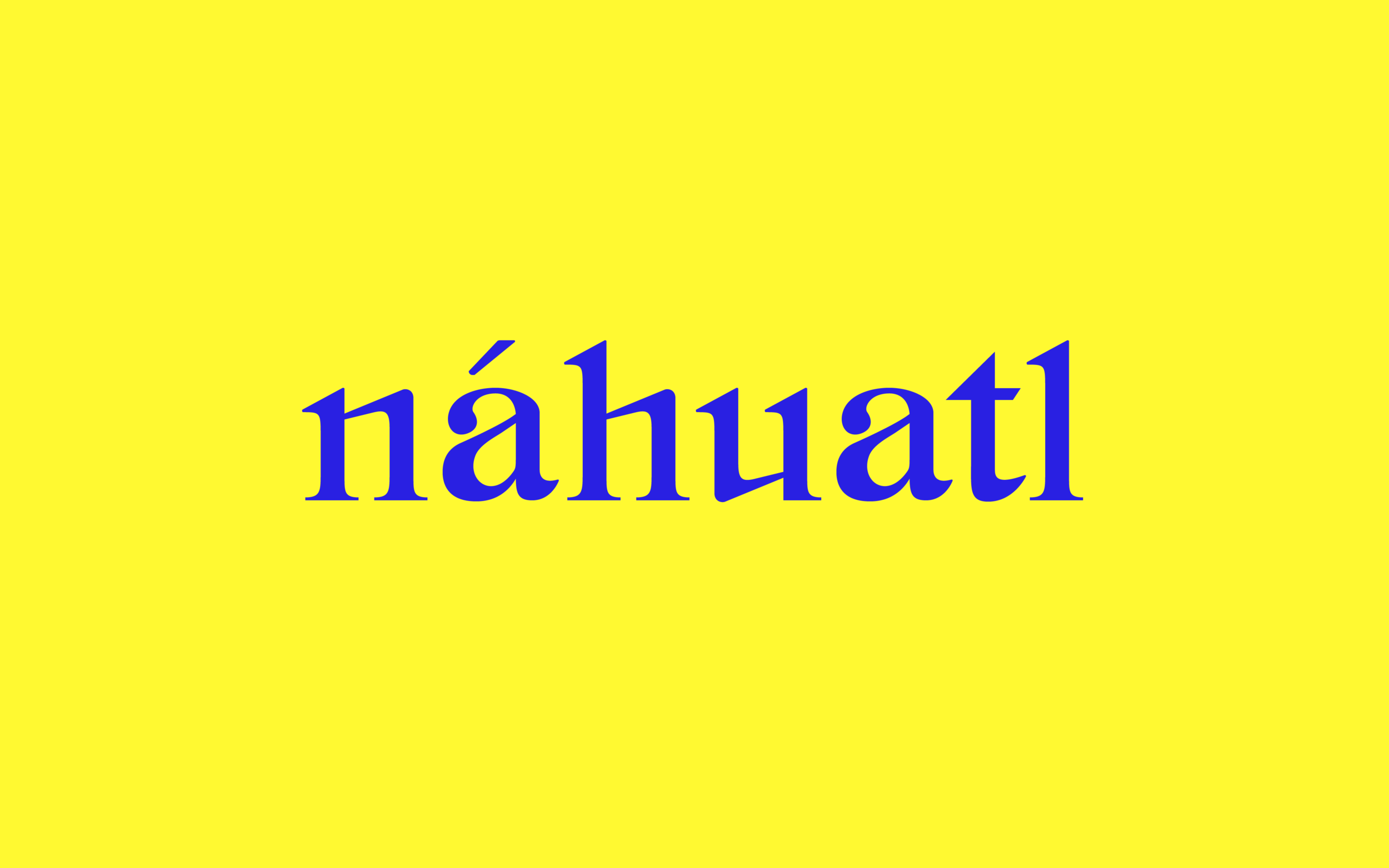 Post  specimen showcasing  náhuatl , a language spoken in Mexico dating back to the 5th century.