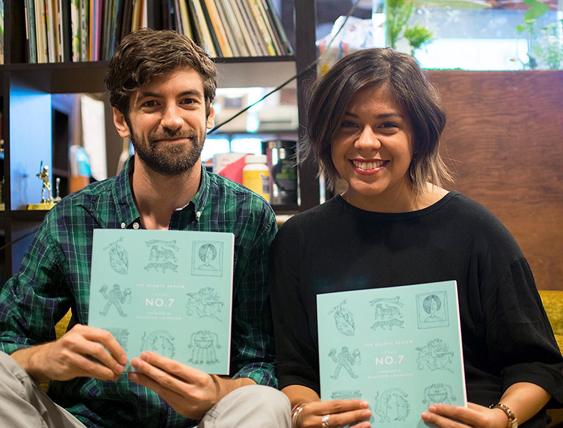 Doug Salati,  illustrator  and Sarah Azpeitia at 826NYC.