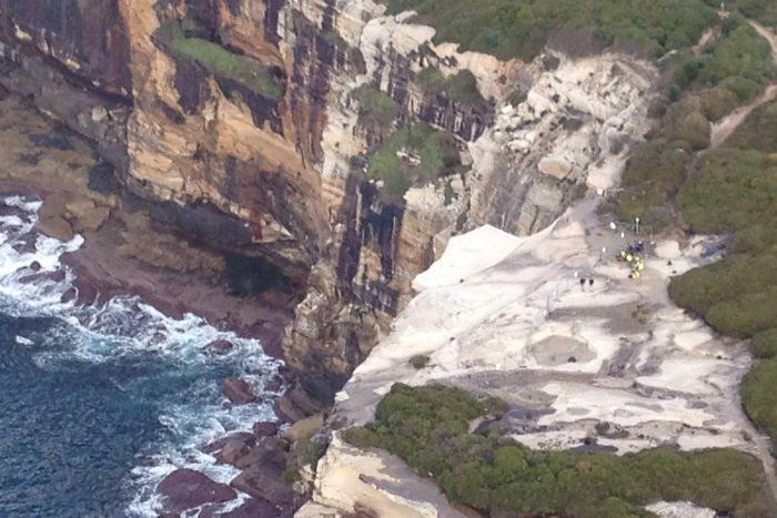 """Wedding Cake Rock could collapse any time, NPWS says""  ABC News - June 24, 2015"