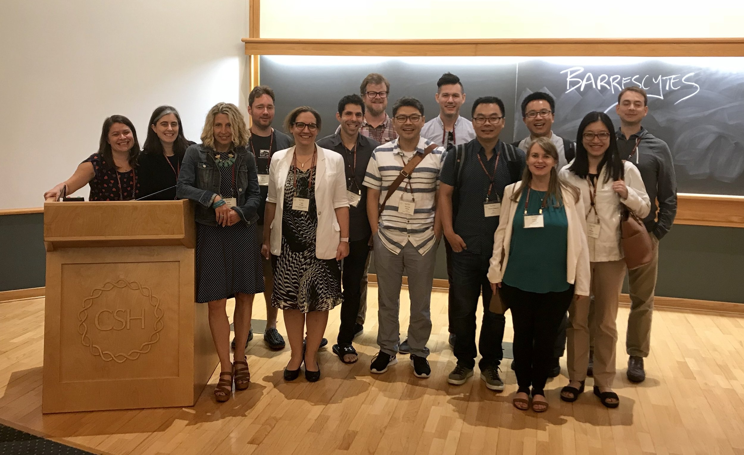 2018 CSHL GLIA meeting with alumni from Ben Barres' lab