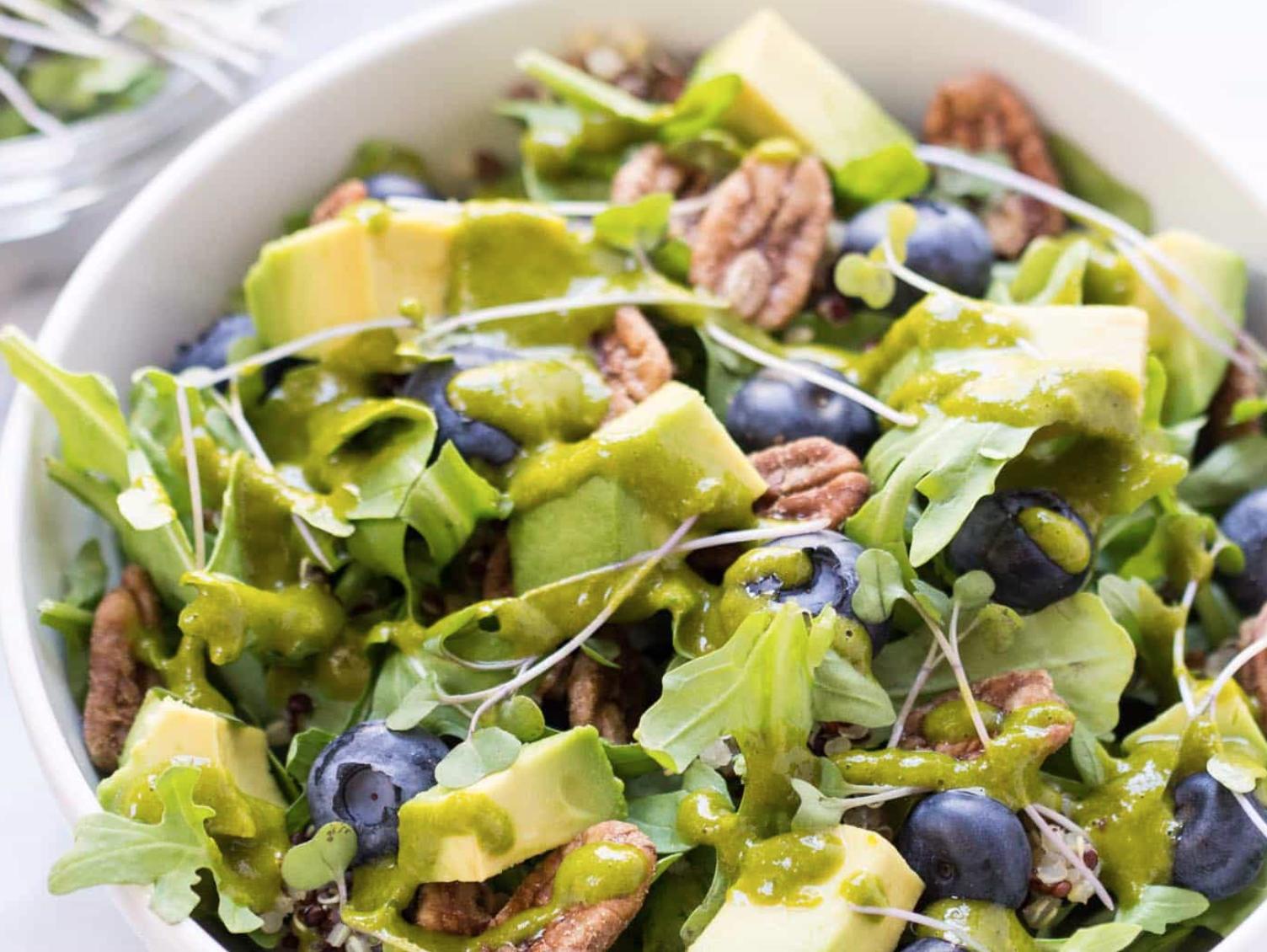 Blueberry Quinoa & Microgreens Power Salad -