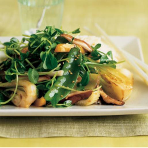 Pea Shoot & Veggie Stir-Fry -