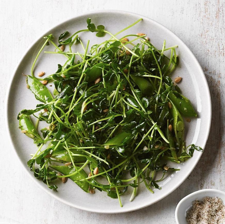 Pea Shoot & Snap Pea Salad -