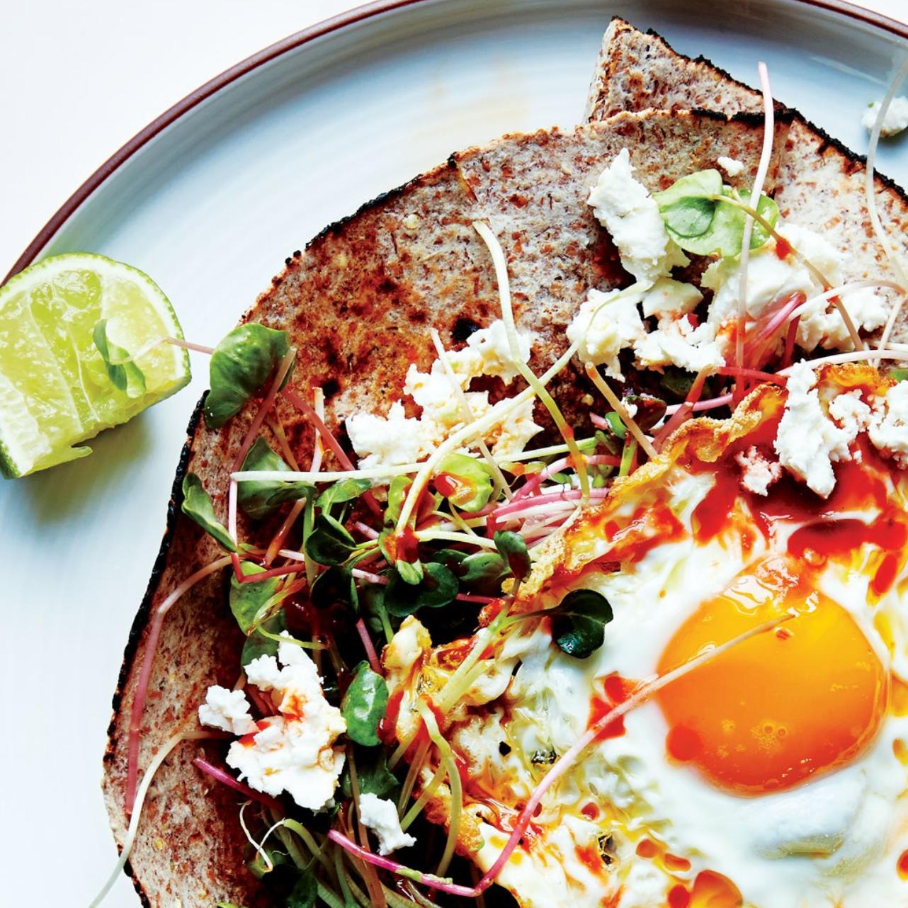 Fried Egg with Avocado & Microgreens -