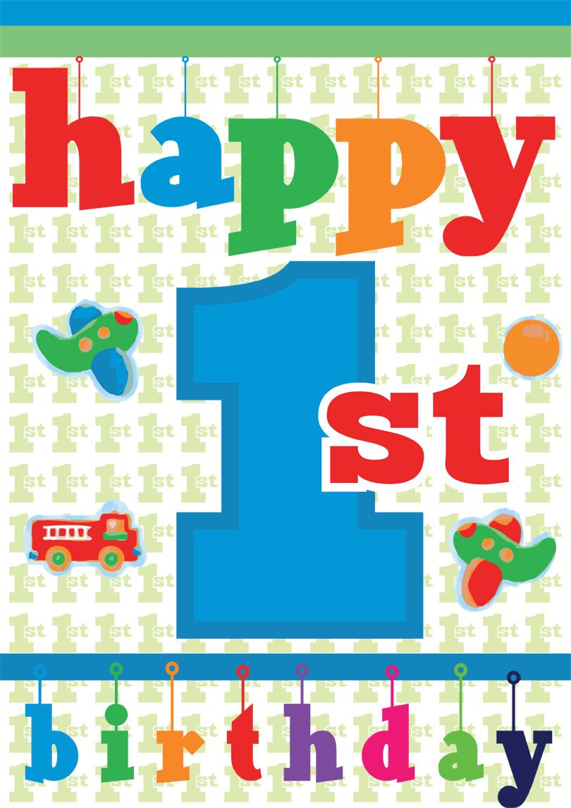 Baby 1st Birthday Card Free Printable Birthday Cards Quick Easy Printbirthday Cards