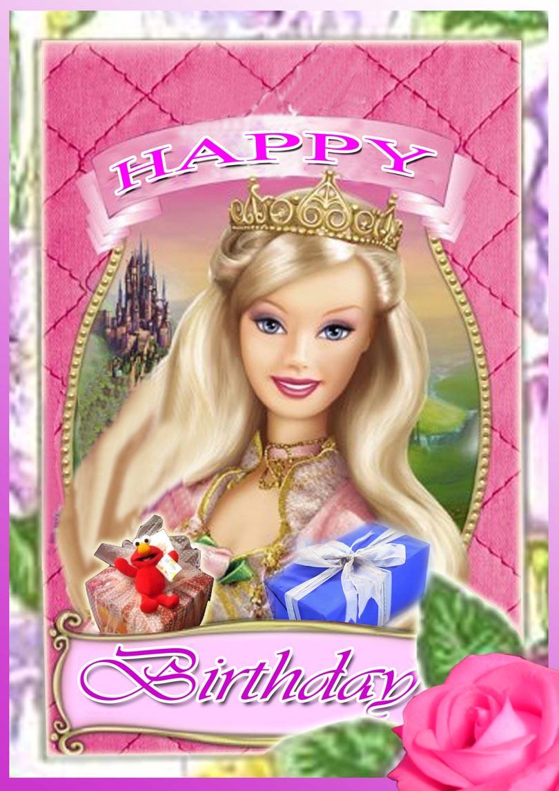 Barbie Princess Birthday Card Free Printable Birthday Cards Printbirthday Cards