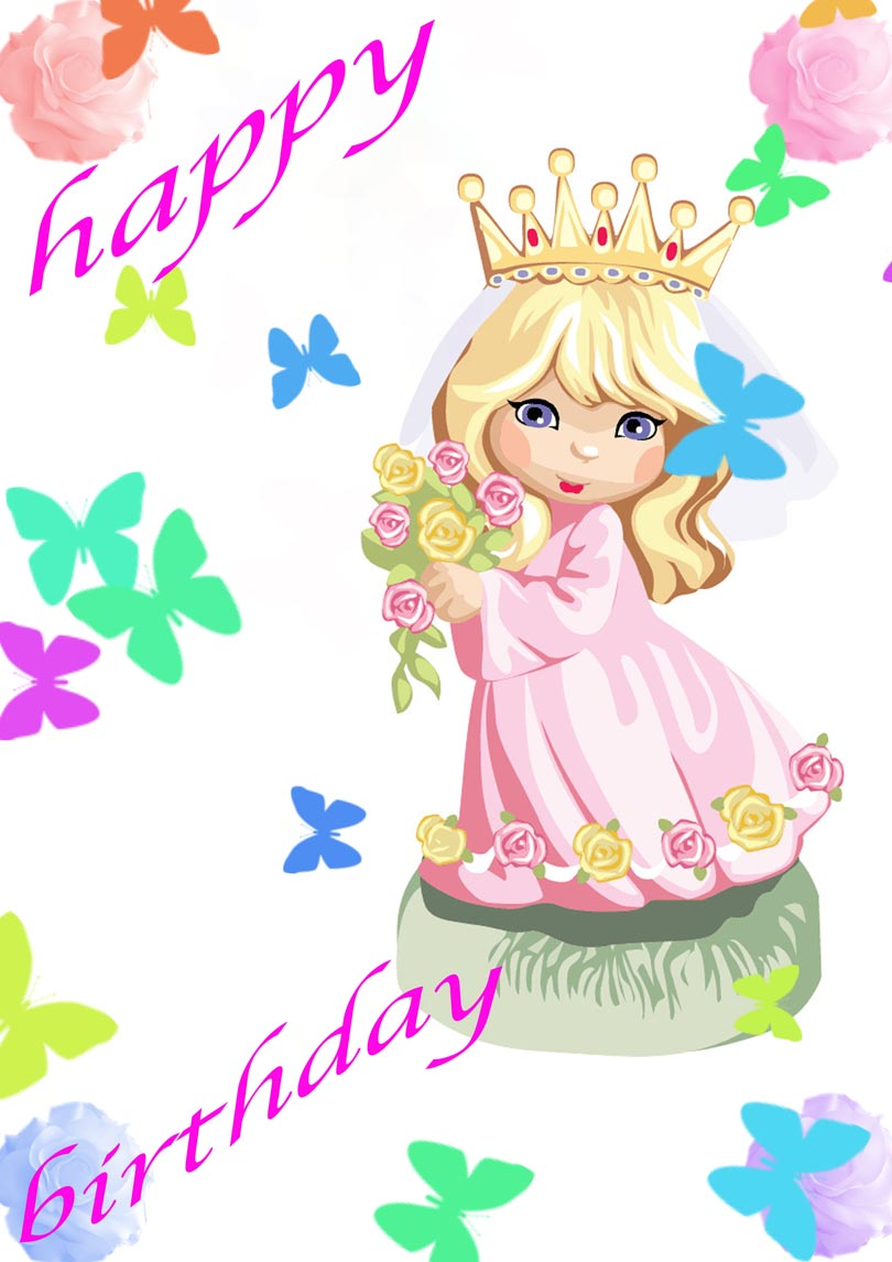 Princess Birthday Card Free Printable Birthday Cards Printbirthday Cards